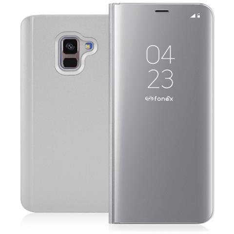 FONEX Book Sky Smart Cover per Samsung Galaxy A8 Colore Argento