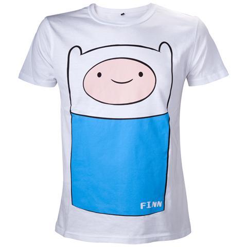 BIOWORLD Adventure Time - White Finn Full Front (T-Shirt Unisex Tg. L)