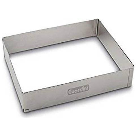 Anelle per torte rettangolare regolabile da 27 a 52cm acciaio inox