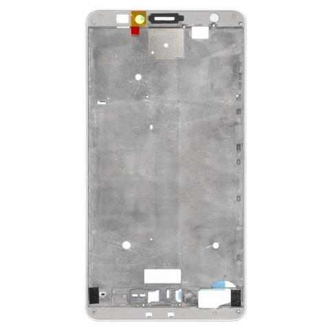 BOMA Telaio Scocca Centrale Cornice Frame Huawei Ascend Mate 7 Bordo White Bianco