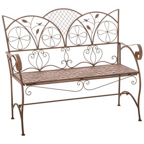 Panchina Stile Romantico Cp445 106x91x51cm ~ Colore Marrone Antico