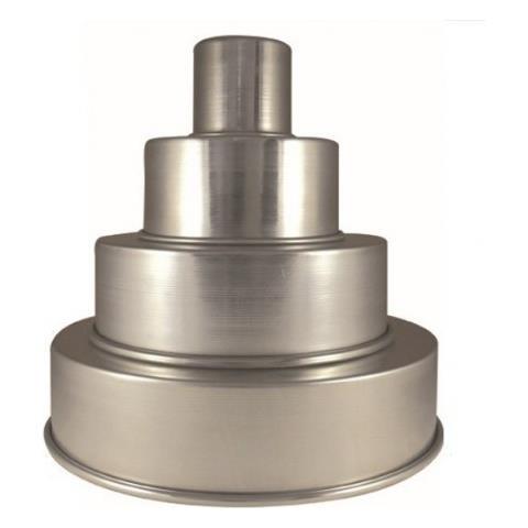 Tortiera Dritta In Alluminio Leggero Liotti - 45x10h