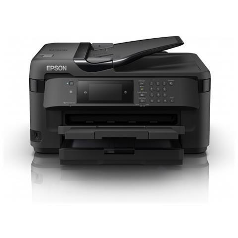 Stampante Multifunzione WorkForce WF-7715DWF Inkjet a Colori Stampa Copia Scansione Fax A3...