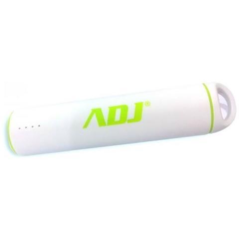 ADJ Rolly Power Bank ADJ 3200mAh per ricaricare diversi tipi di periferiche dotate di porta USB con cavo micro USB 5V / 1A incluso di Col. bianco