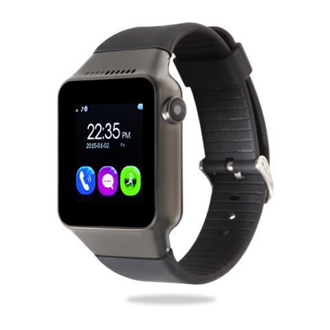 "GOCLEVER Smartwatch Chronos Connect Single Sim Display Touchscreen 1.54"" LCD Bluetooth Fitness Fotocamera Android Nero - Italia RICONDIZIONATO"