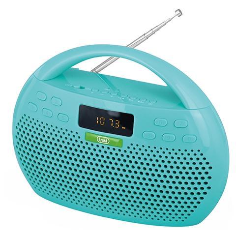 TREVI Radio Portatile CMP 546 BT Sintonizzatore FM Bluetooth porta USB Slot MicroSD ingresso AUX colore Verde