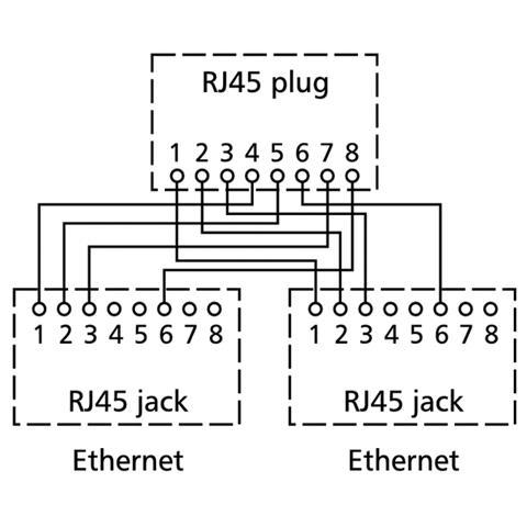 BTR NETCOM pnp 3 RJ-45 2x RJ-45 Argento cavo di interfaccia e adattatore