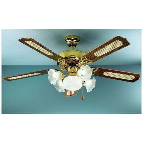 Zephir ventilatore da soffitto 5 pale legno prezzi e for Ventilatore a pale