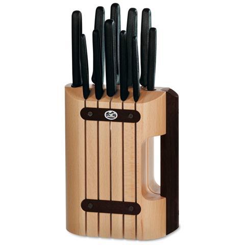 Ceppo 11 coltelli con manico nero