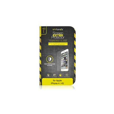 FONEX Protezione Schermo in Vetro Temperato per iPhone 4/4S (1Pz)