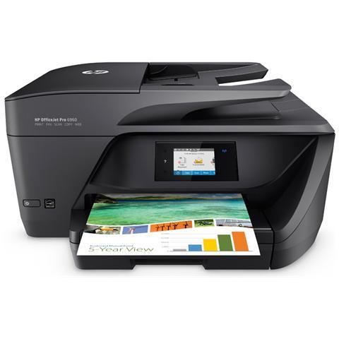 Image of OfficeJet Pro 6960 All-in-One Stampante Multiunzione Stampa Copia, Scansione Fax Inkjet a Colori A4 Ppm 18 (Colori) Ppm 10 (B / N) USB / Wireless