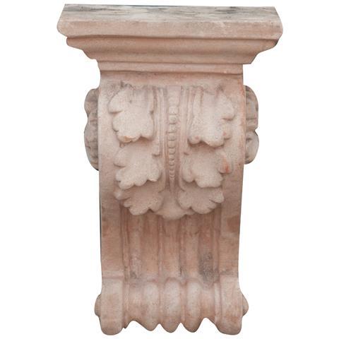 Mensola Invecchiata In Terracotta Toscana 16x22x36 Cm