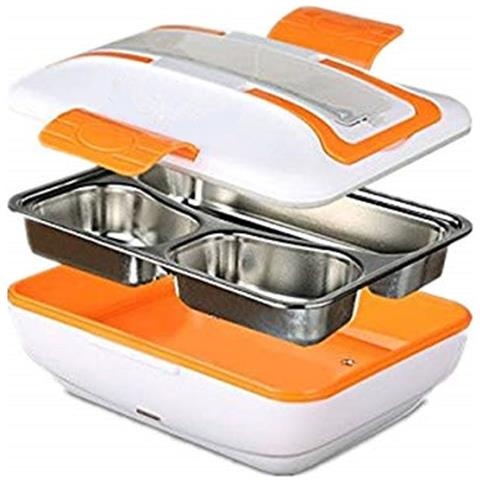 - - Lunch Box Portavivande Termico Elettrico Borsa Termica Scaldavivande In Acciaio Inox