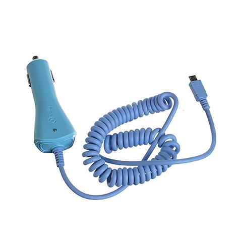 CELLY Caricabatterie da Auto MicroUSB - Blu