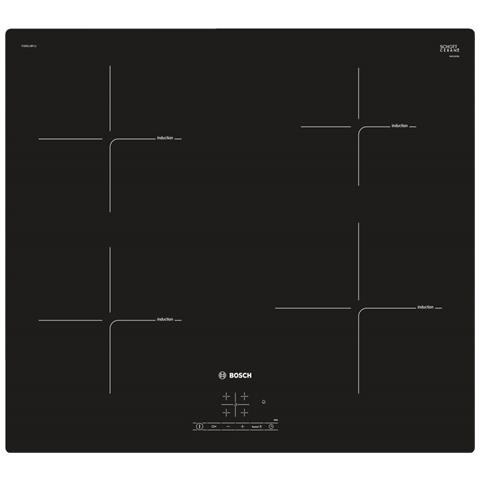 Piano Cottura PUE611BF1J a Induzione 4 Zone Cottura da 60 cm Colore Nero