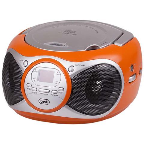 TREVI Stereo Portatile Cd Boombox Cd 512 Arancio