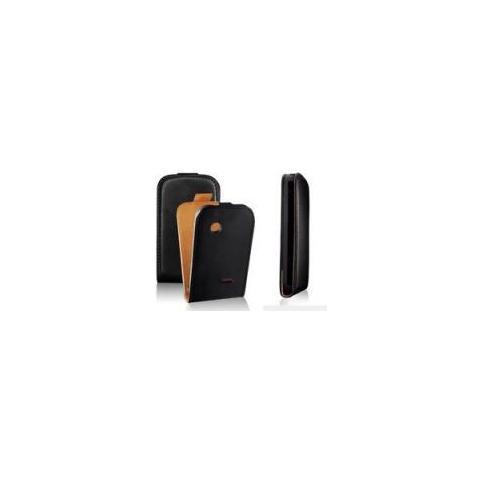 Samsung Custodia Samsung S5690 Galaxy Xcover Top Open Pelle Black