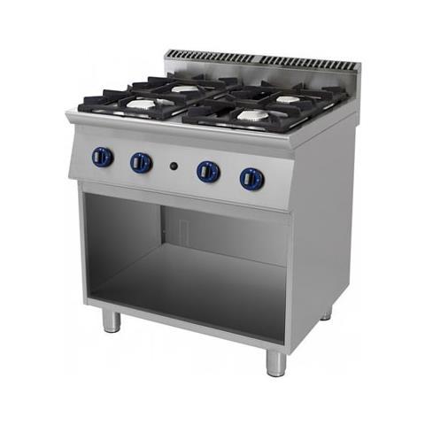 Cucina A Gas 4 Fuochi Su Vano A Giorno. 80x90x85h.