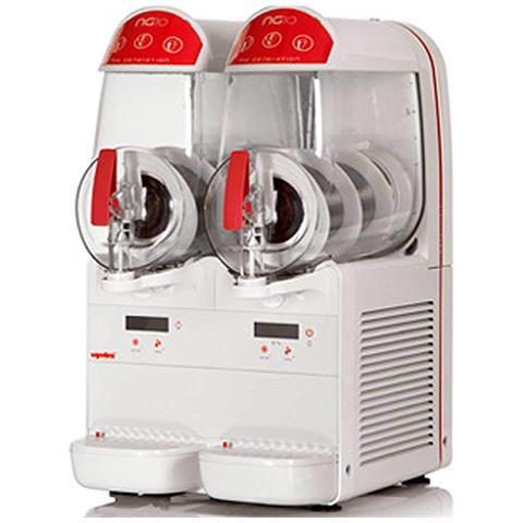 Macchina Per Granite Sorbetti Creme Fredde Ugolini Ng10/2 Easy - 2 Contenitori Da 10 Litri - Dispenser Made In Italy