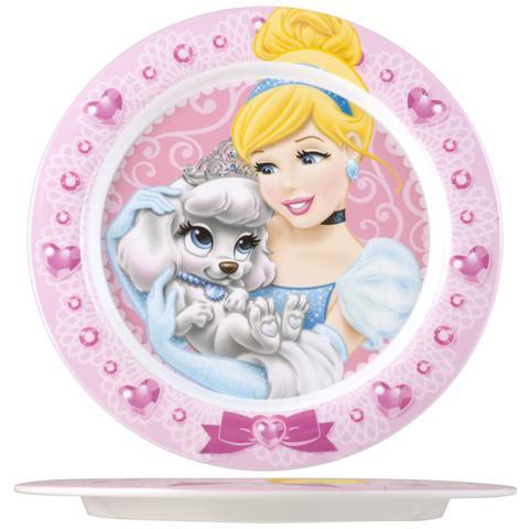 HOME Piatto Melamina Princess&pets Piano Cm22 Stoviglie
