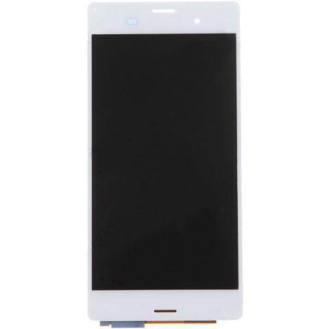 BOMA Display Schermo Touch Screen Lcd Sony Xperia Z3 L55t L55u D6603 Bianco Cristalli Liquidi