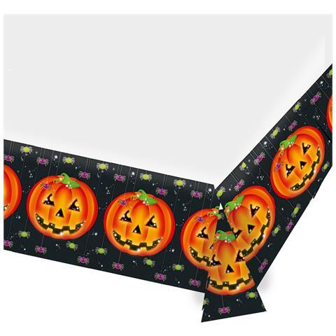 FESTIVIFETE Tovaglia Di Plastica Zucca Di Halloween Taglia Unica