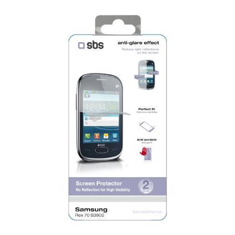 SBS Pellicola Protettiva effetto anti-riflesso per Samsung Rex 70