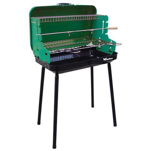 Barbecue per giardino in acciaio con griglia 3 regolazioni Papillon