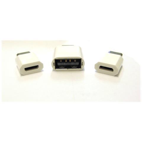 ICT Kit Mini Adattatore Da Usb 2.0 A Type-c 3.1 E Da Micro Usb A Type-c 3.1