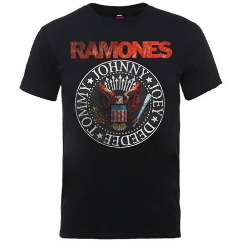 ROCK OFF Ramones - Vintage Eagle Seal (T-Shirt Unisex Tg. M)