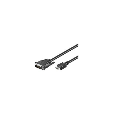 Wentronic MMK 630-500 5.0m (HDMI-DVI) 5m HDMI DVI-D Nero