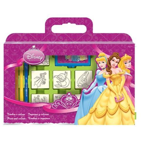 MULTIPRINT Valigetta 7 Timbri Disney Principesse