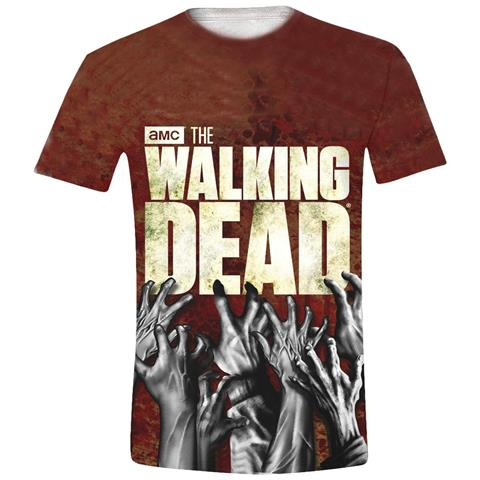 IMPORT Walking Dead - Hands Logo Full Printed (T-Shirt Unisex Tg. L)