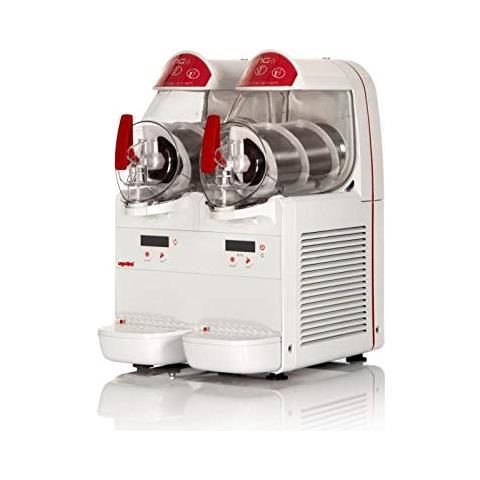 Macchina Per Granite Sorbetti Creme Fredde Ugolini Ng6/2 Easy - 2 Contenitori Da 6 Litri - Dispenser Made In Italy