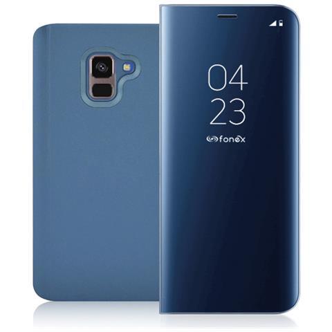 FONEX Book Sky Smart Cover per Samsung Galaxy A8 Colore Blu