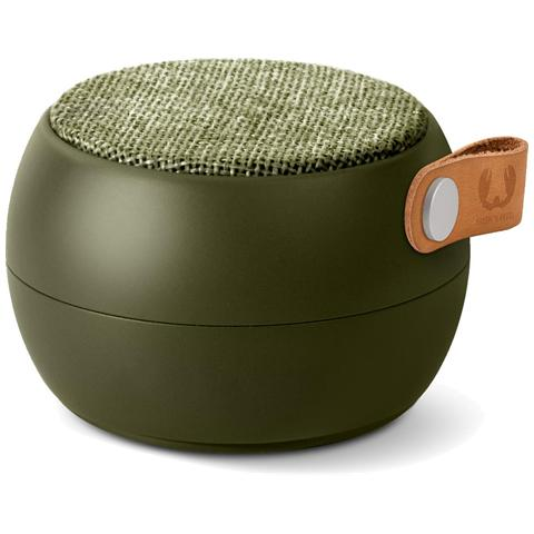 FRESH N REBEL Rockbox Round H2O Fabriq Edition Speaker Bluetooth impermeabile - Verde Militare