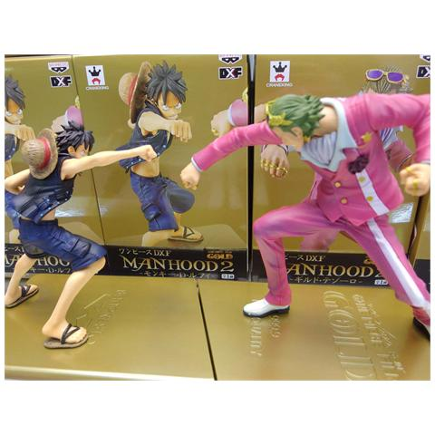 Banpresto One Piece - Film Gold Manhood Monkey. D. Luffy Vs Gild Tesoro - Set 2 Figure Altezza 13/15 Cm