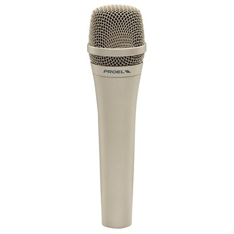 PROEL DM585 High sensitivity professional microphone with dynamic capsule High applicable SPL Cardioid polar pattern particularly resistant to feedback Tailored frequency response specifically for vocals