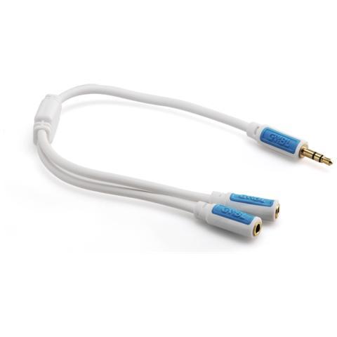 GeBL 6747- Cavo audio JACK 3.5 mm maschio - 2 JACK 3.5 mm femmina L. 0,2m