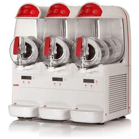 Macchina Per Granite Sorbetti Creme Fredde Ugolini Ng10/3 Elettronic - 3 Contenitori Da 10 Litri - Dispenser Made In Italy