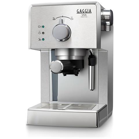 RI8437/11 Viva Macchina da Caffè Espresso Manuale Potenza 950 Watt Capacità 1.25 Litri Colore Argento