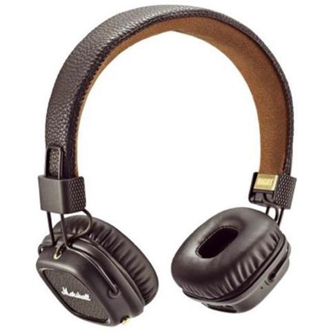 MARSHALL Cuffie Bluetooth Major II Colore Marrone