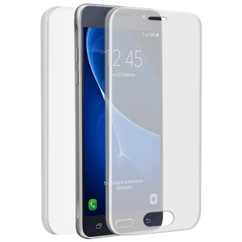 FONEX Specter Cover Fronte / Retro in TPU con Funzione 3D Touch per Samsung Galaxy J7 (6) colore Trasparente