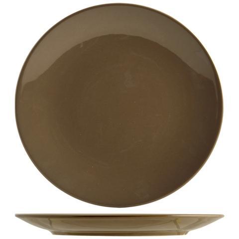 H&H Set 6 Piatto Coupe Iris Marrone Frutta 20 Tableware