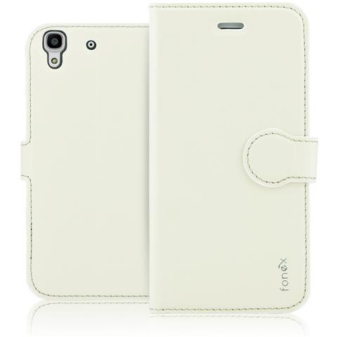 FONEX Identity Book Custodia a Libro per Huawei Y6 Colore Bianco