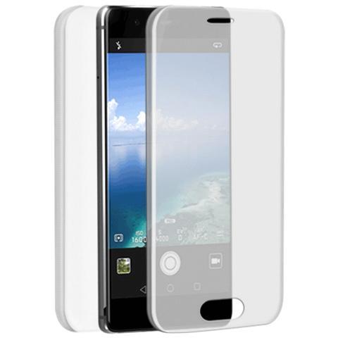 FONEX Specter Cover Fronte / Retro in TPU con Funzione 3D Touch per Huawei P9 Lite colore Trasparente