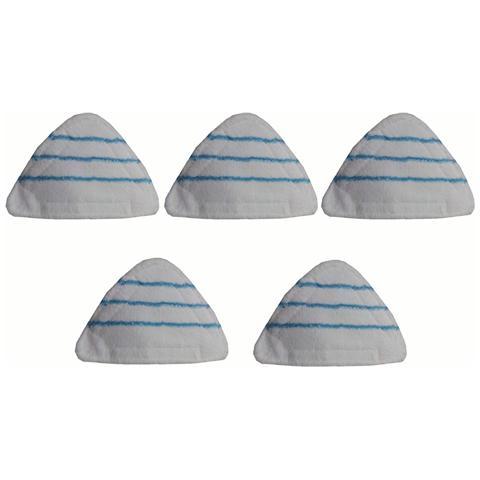 Eglemtek Set 10 Panni Triangolari In Microfibra Per Scopa A Vapore X10 Verde / bianca