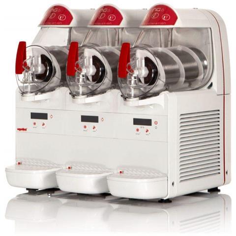 Macchina Per Granite Sorbetti Creme Fredde Ugolini Ng6/3 Elettronic - 3 Contenitori Da 6 Litri - Dispenser Made In Italy