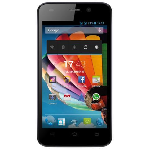 "MEDIACOM PhonePad G400 Giallo 4 GB Dual Sim Display 4"" Slot Micro SD Fotocamera 5 Mpx Android Italia"