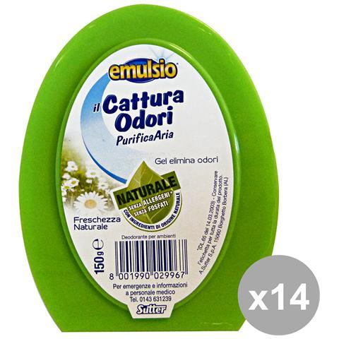 Emulsio Set 14 Cattura Odori Gel Fr. naturale 150 Gr. Deodoranti Candele E Profumator